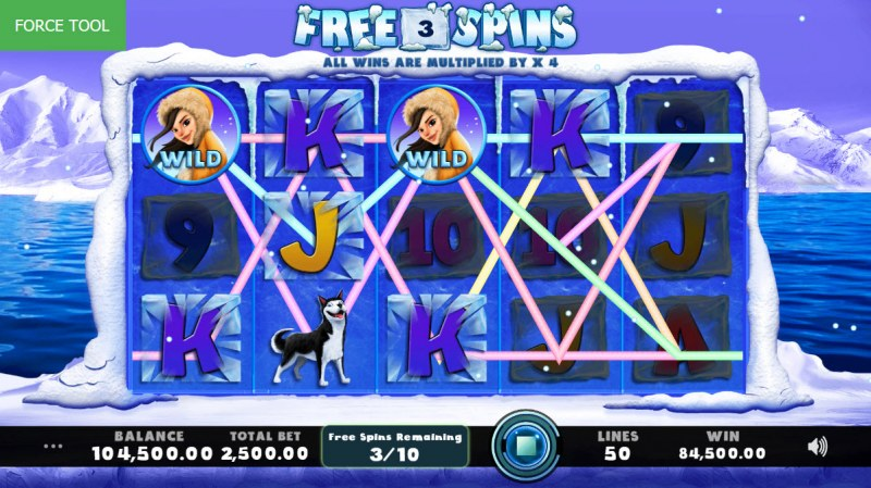 Frozen Fluffies :: Multiple winning paylines