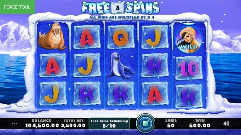 Frozen Fluffies :: Free Spins Game Board