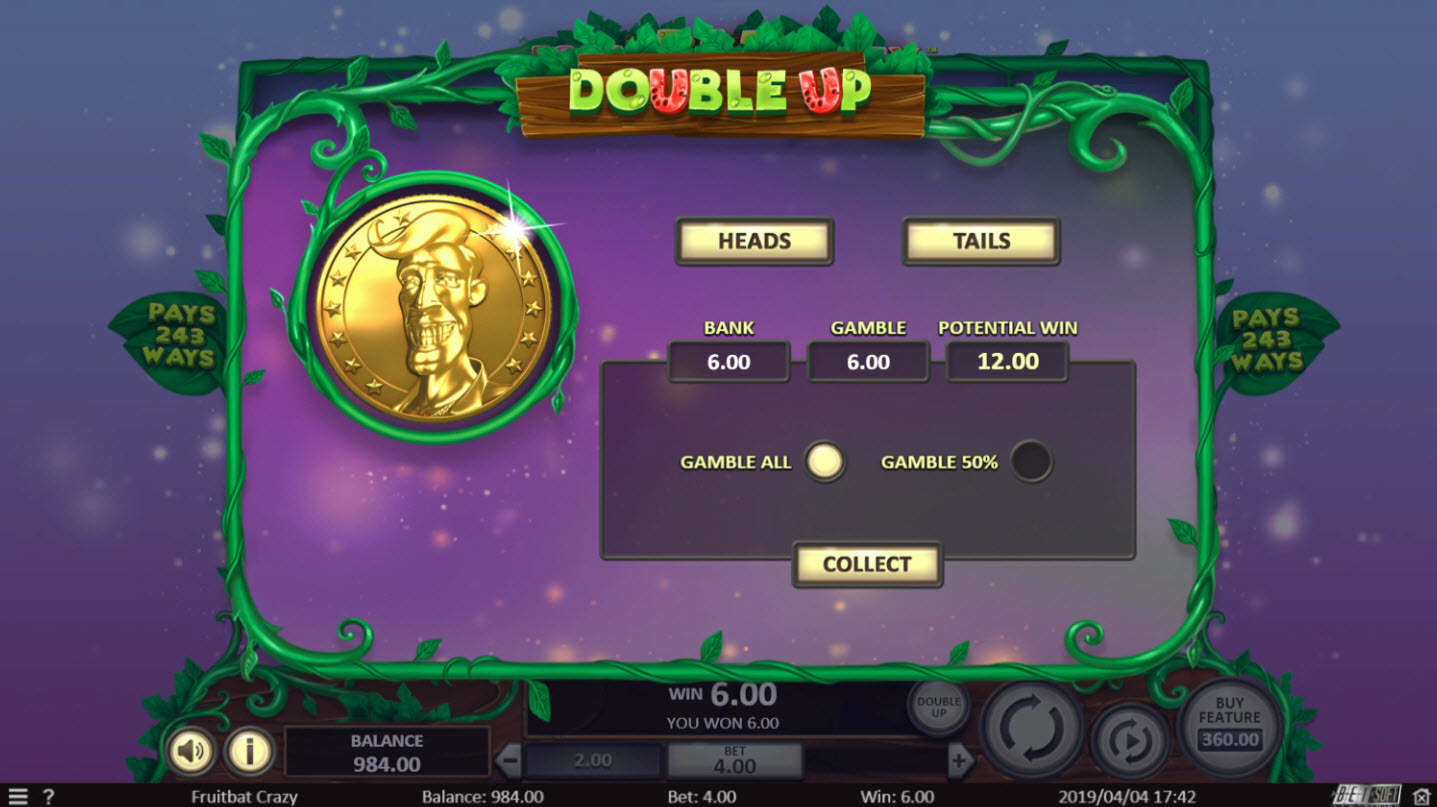Play slots at 123 Vegas Win: 123 Vegas Win featuring the Video Slots Fruit Bat Crazy with a maximum payout of $47,850