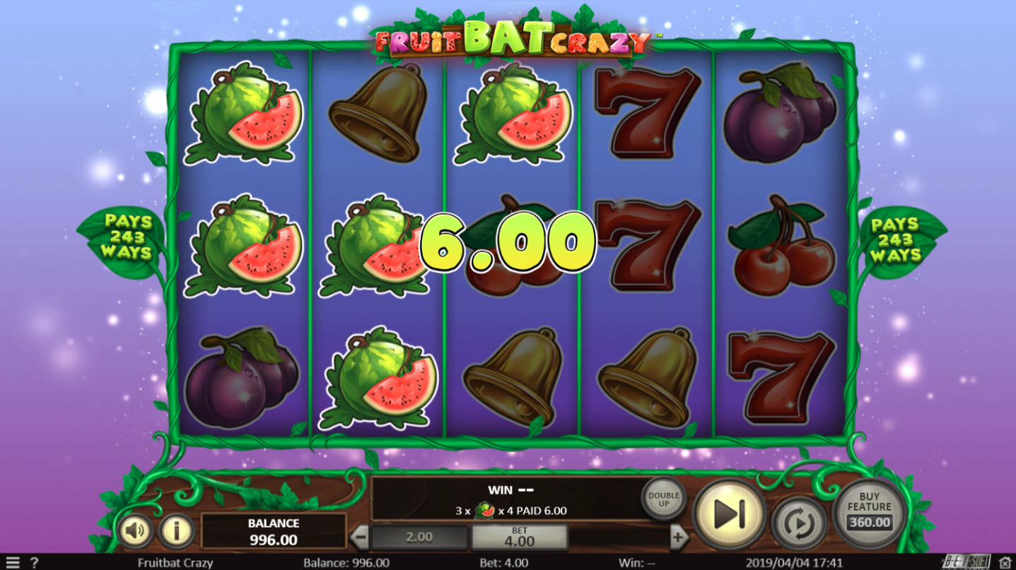 Play slots at Riviera Play: Riviera Play featuring the Video Slots Fruit Bat Crazy with a maximum payout of $47,850