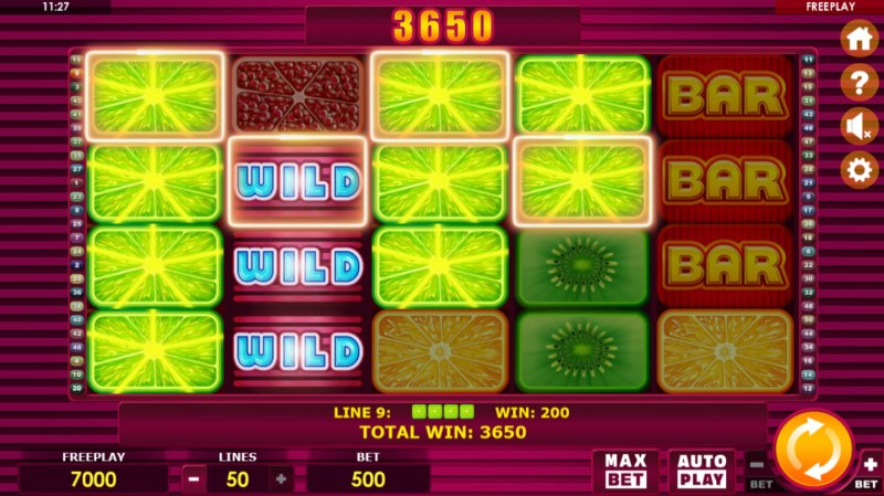 Fruit Box :: Multiple winning paylines