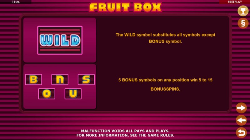 Fruit Box :: Wild and Scatter Rules