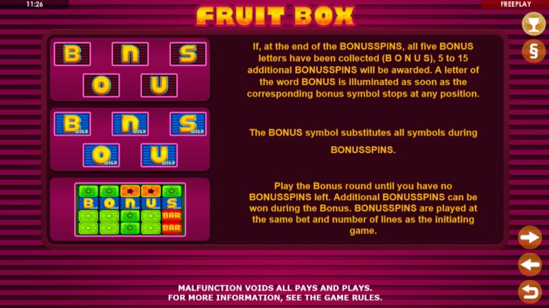 Fruit Box :: Bonus Game Rules