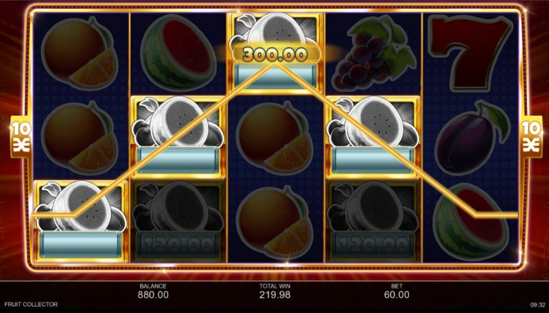 Fruit Collector :: A four of a kind win