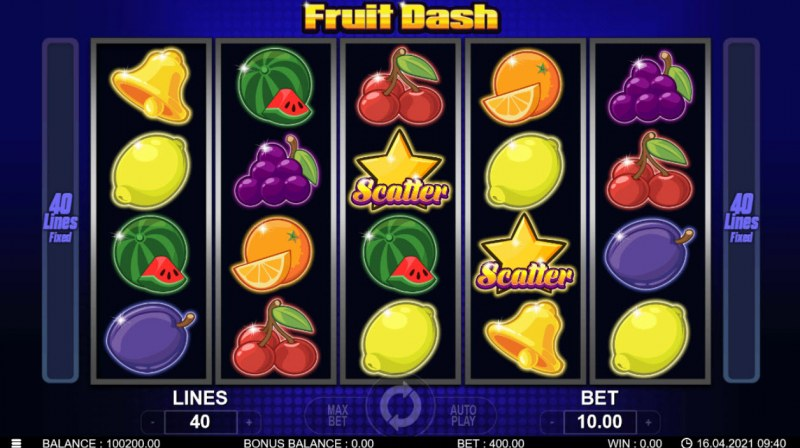Fruit Dash :: Main Game Board