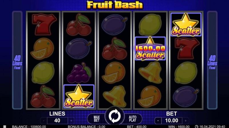 Fruit Dash :: Scatter Win