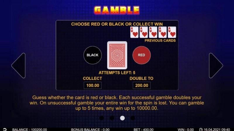 Fruit Dash :: Gamble feature