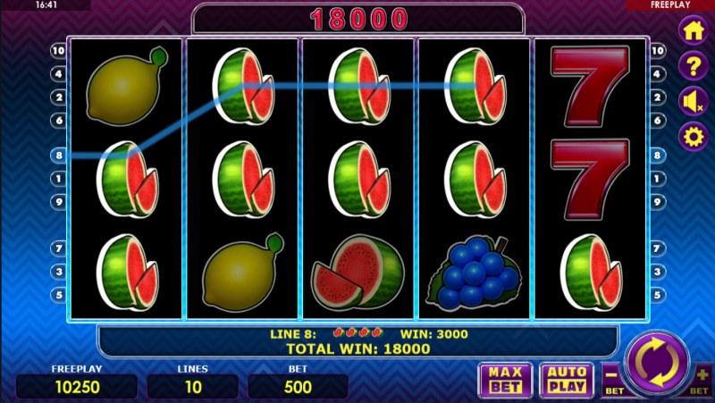 Fruit Express :: Multiple winning paylines