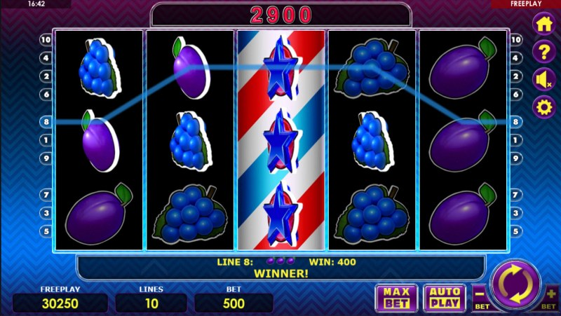 Fruit Express :: Stacked wild symbols triggers multiple winning paylines