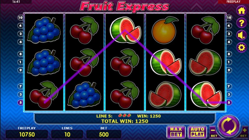 Fruit Express :: Game pays in both directions