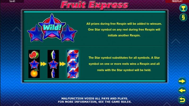 Fruit Express :: Wild Symbols Rules