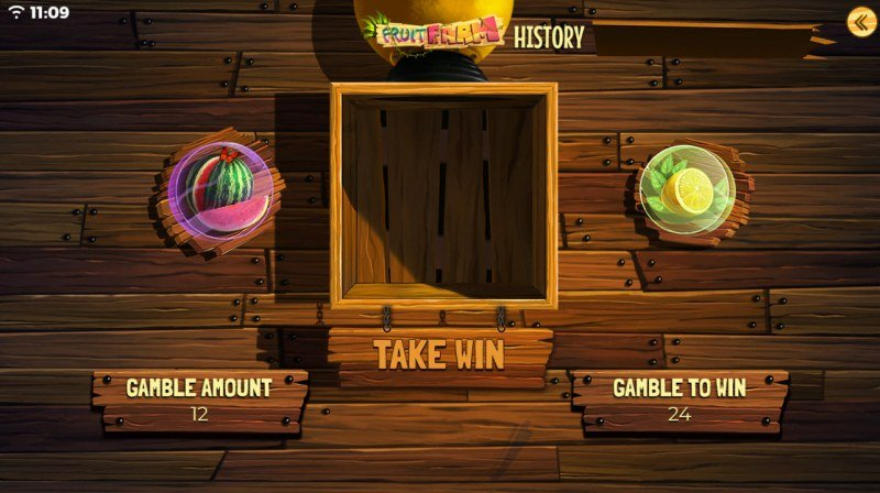 Fruit Farm :: Gamble Feature Game Board