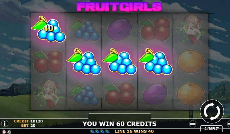 Fruit Girl :: A four of a kind Win