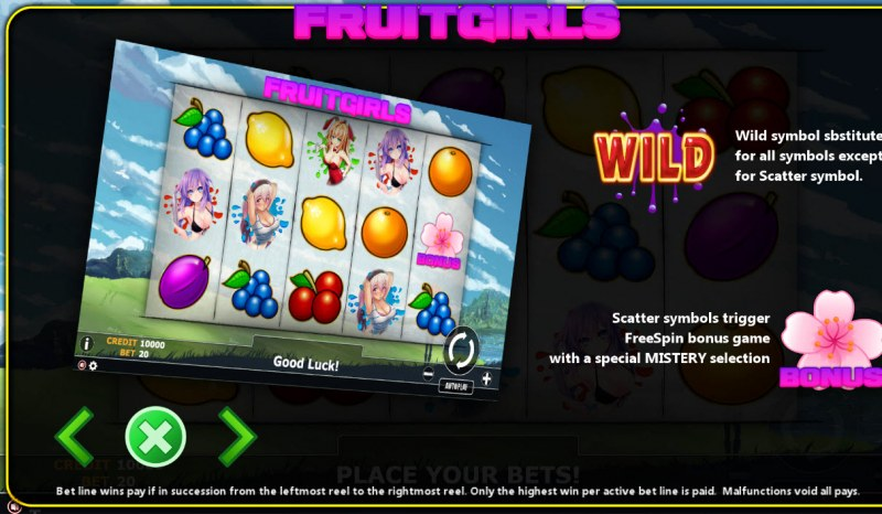 Fruit Girl :: Wild Symbols Rules