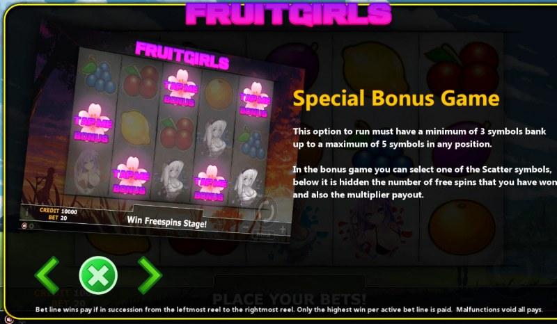 Fruit Girl :: Bonus Game Rules