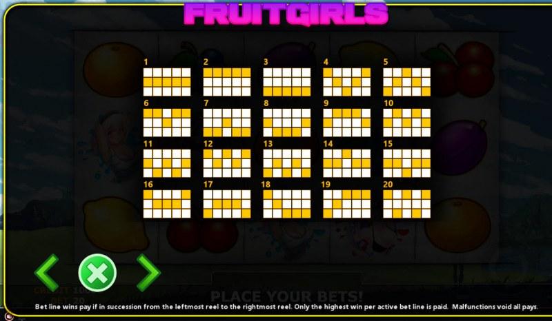 Fruit Girl :: Paylines 1-20