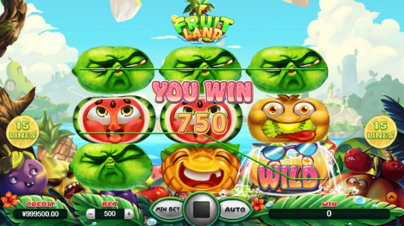 Fruit Land :: A pair of winning paylines