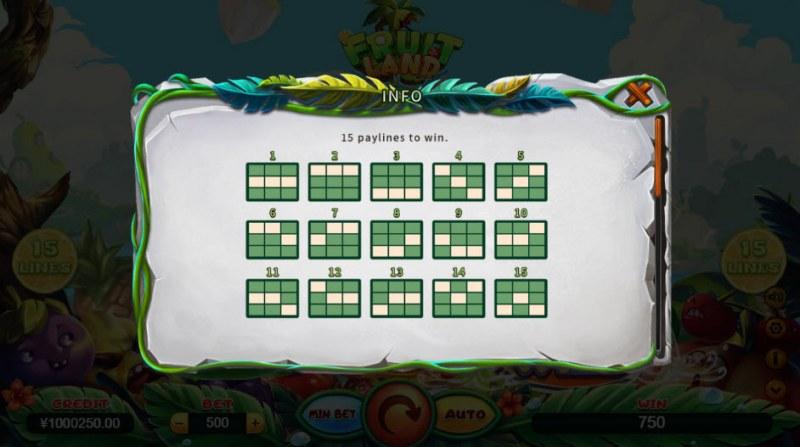 Fruit Land :: Prize Lines 1-15
