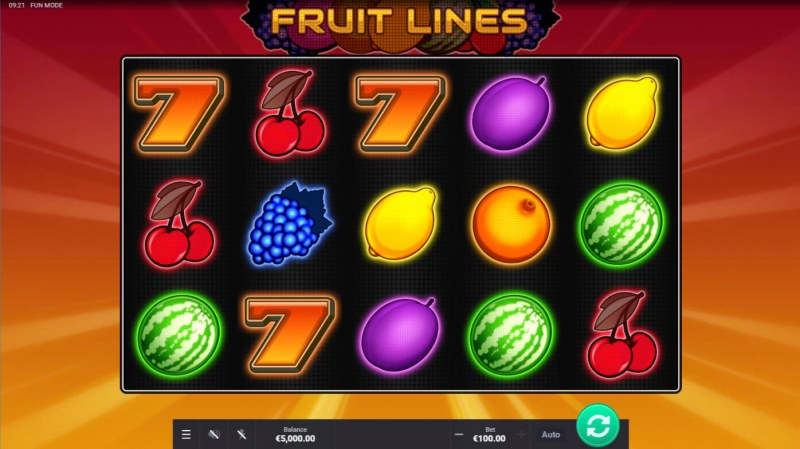 Play slots at Lucky Thrillz: Lucky Thrillz featuring the Video Slots Fruit Lines with a maximum payout of $100,000