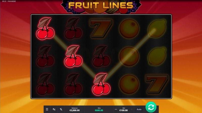 Fruit Lines :: Multiple winning paylines