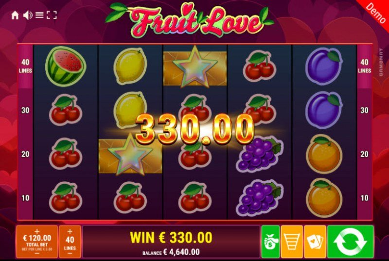 Fruit Love :: Multiple winning paylines