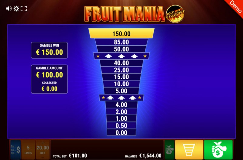 Fruit Mania Red Hot Fire Pot :: Ladder Gamble Feature