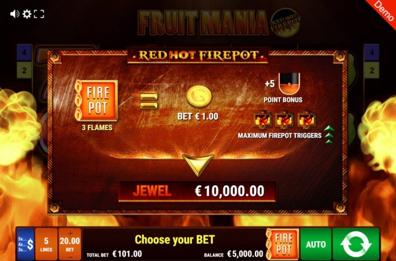 Fruit Mania Red Hot Fire Pot :: Activating Fire Pot