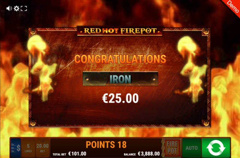 Fruit Mania Red Hot Fire Pot :: Total bonus payout
