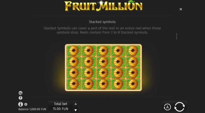 Fruit Million Summer Edition :: Staked Symbols