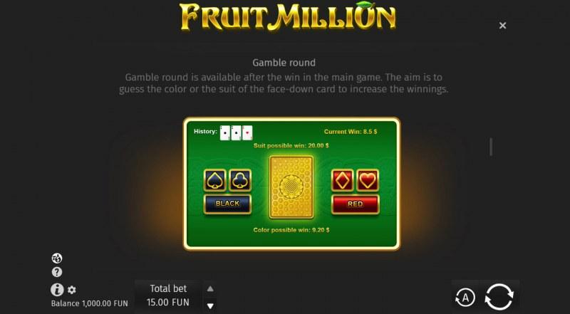Fruit Million Summer Edition :: Gamble feature