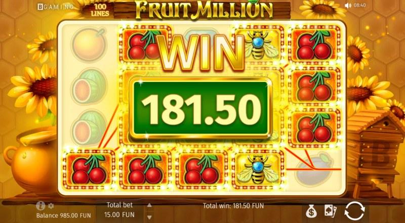 Fruit Million Summer Edition :: Multiple winning paylines
