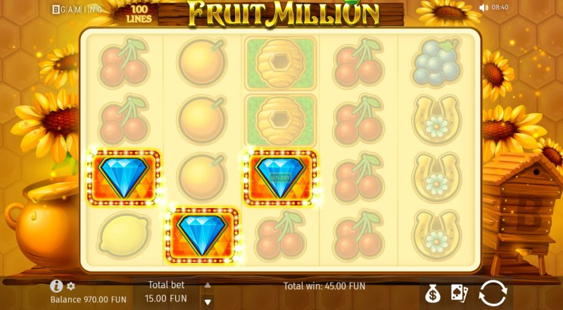 Fruit Million Summer Edition :: A three of a kind win