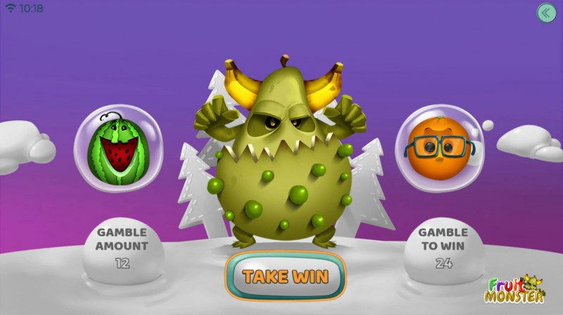Fruit Monster :: Gamble Feature Game Board