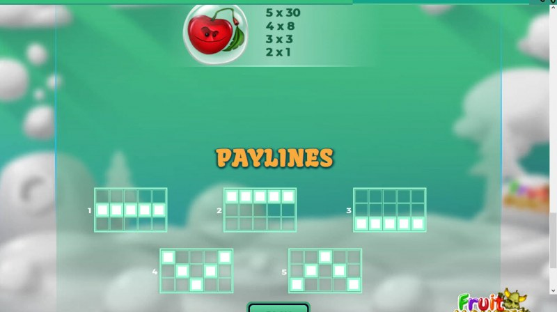 Fruit Monster :: Paylines 1-5