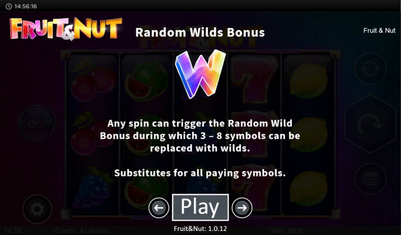 Fruit & Nut :: Random Wilds Bonus