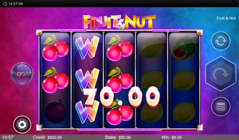 Fruit & Nut :: A three of a kind win