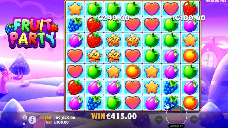 Fruit Party :: Random multipliers awarded