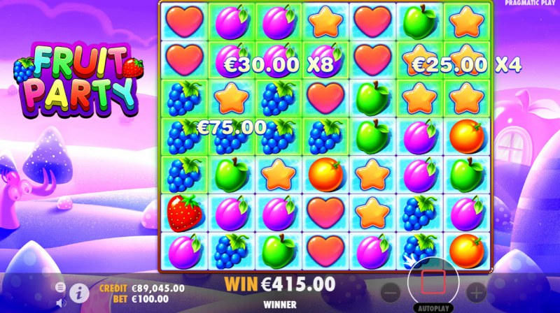 Fruit Party :: Free Spins Game Board
