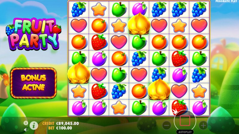 Fruit Party :: Scatter symbols triggers the free spins feature