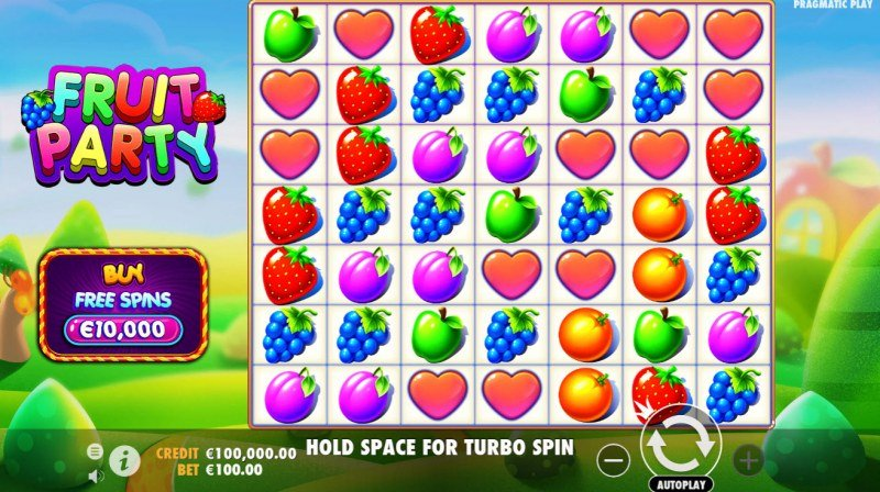 Play slots at Viggoslots: Viggoslots featuring the Video Slots Fruit Party with a maximum payout of $500,000