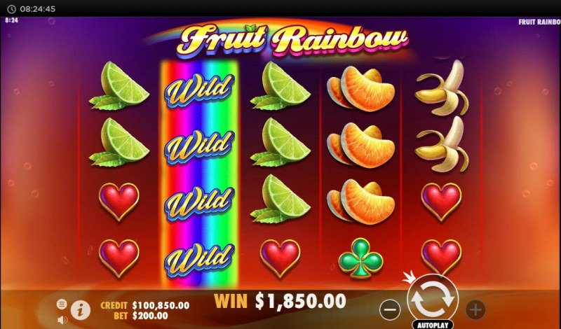 Fruit Rainbow :: Multiple winning combinations leads to a big win