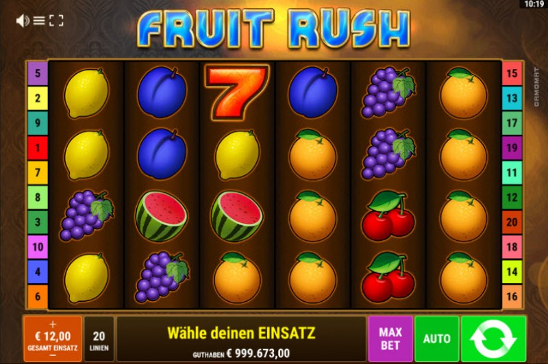 Fruit Rush :: Main Game Board