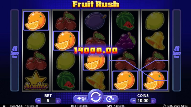 Fruit Rush :: Five of a kind