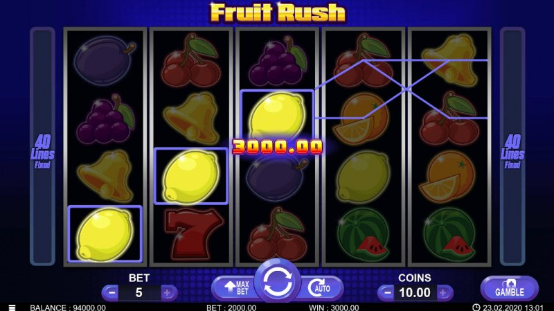 Fruit Rush :: Three of a kind