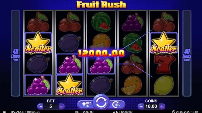 Fruit Rush :: Scatter Win