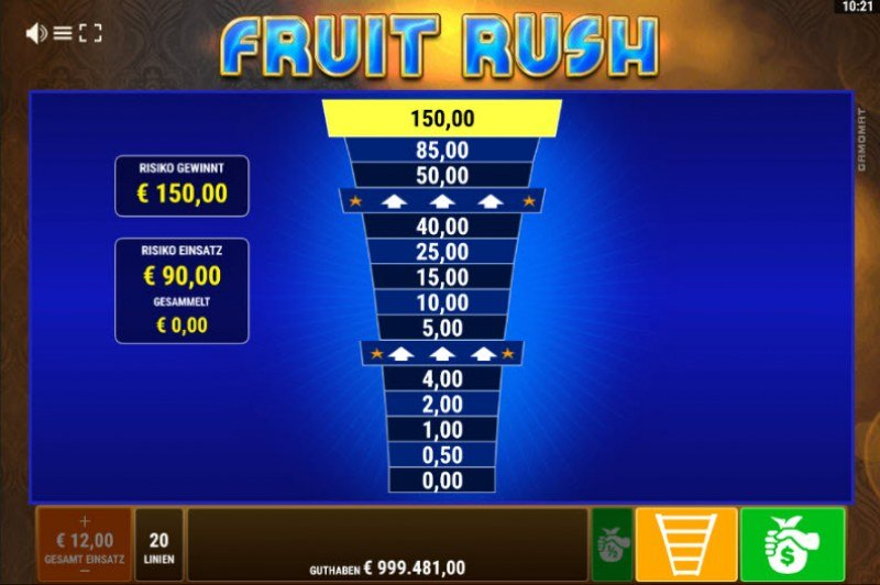 Fruit Rush :: Ladder Gamble Feature