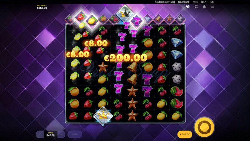 Fruit Snap :: Multiple winning clusters leads to a big win