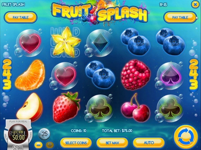 Play slots at This Is Vegas: This Is Vegas featuring the Video Slots Fruit Splash with a maximum payout of $2,250