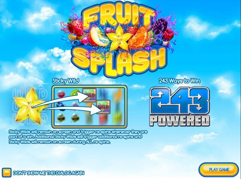 Play slots at Domgame: Domgame featuring the Video Slots Fruit Splash with a maximum payout of $2,250