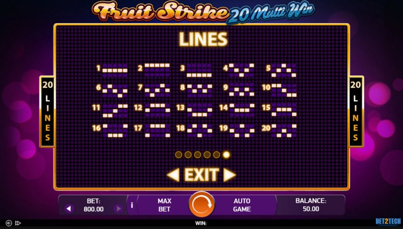 Fruit Strike 20 Multi Win :: Paylines 1-20